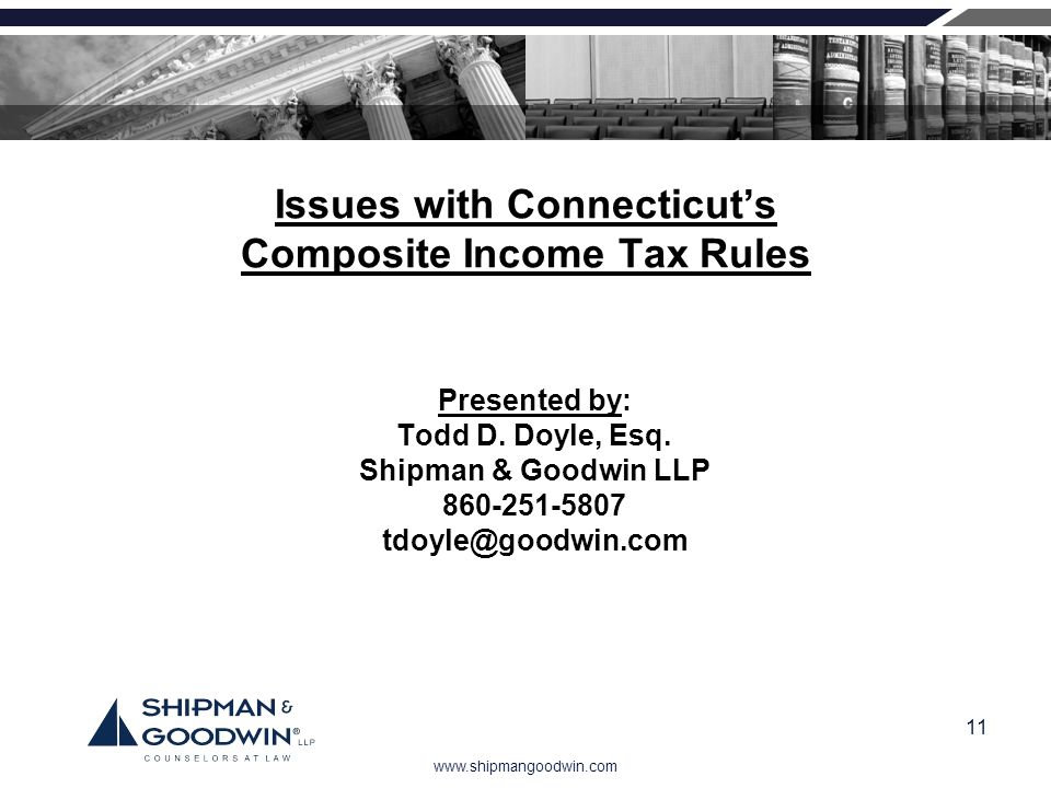 Issues with Connecticut's Composite Income Tax Rules