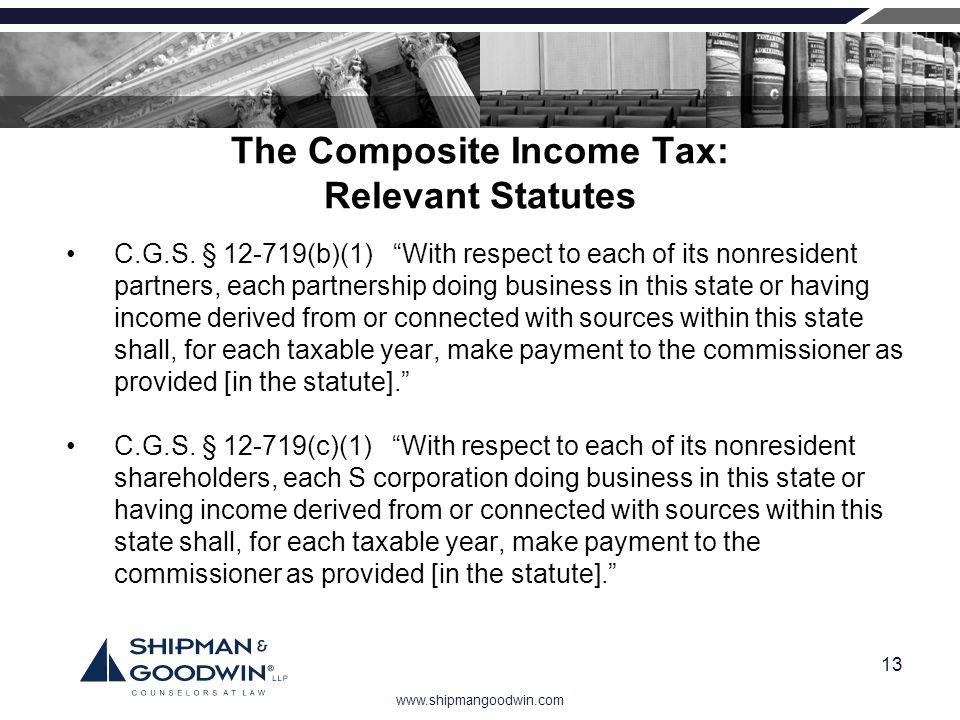 The Composite Income Tax: Relevant Statutes