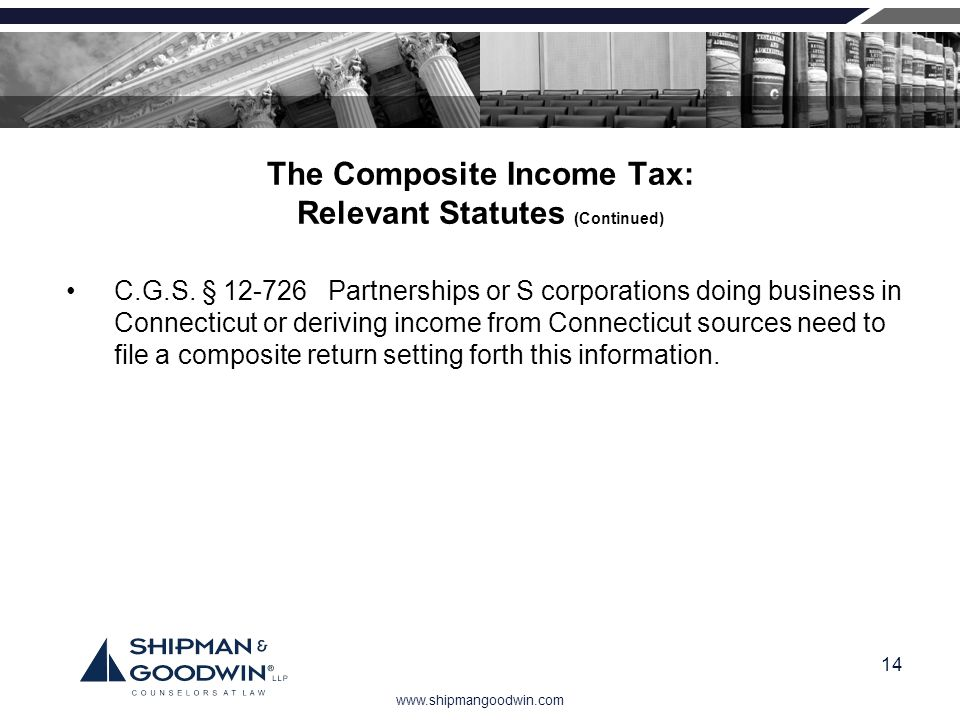 The Composite Income Tax: Relevant Statutes (Continued)