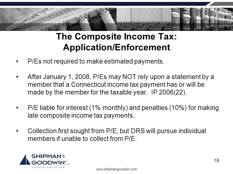 The Composite Income Tax: Application/Enforcement