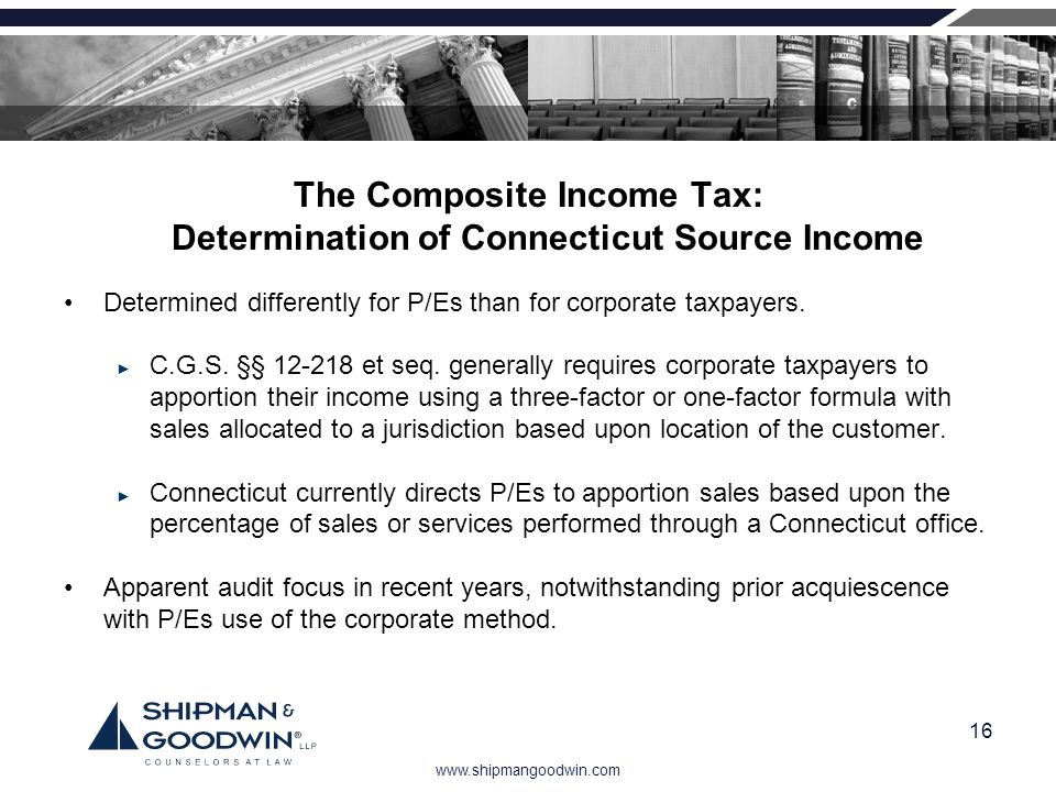 The Composite Income Tax: Determination of Connecticut Source Income