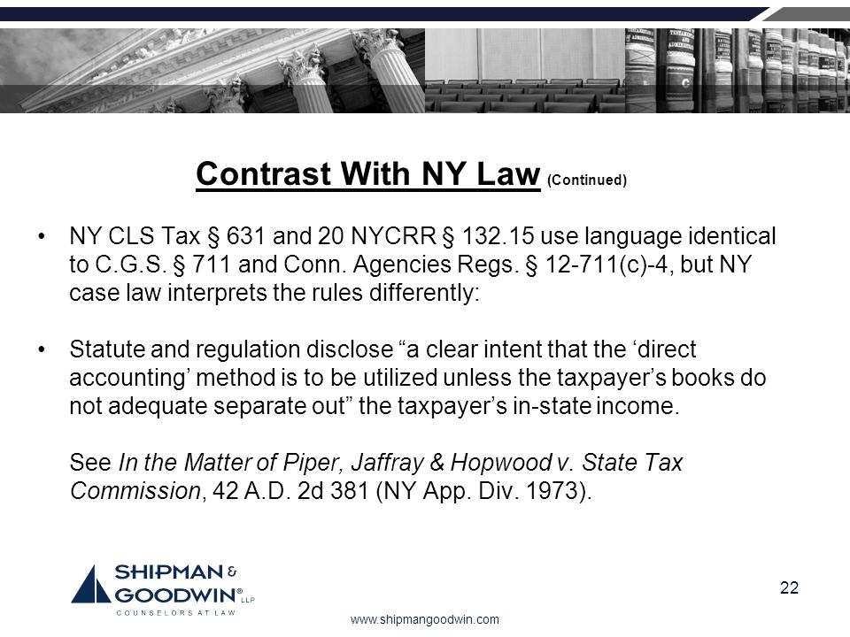 Contrast With NY Law (Continued)