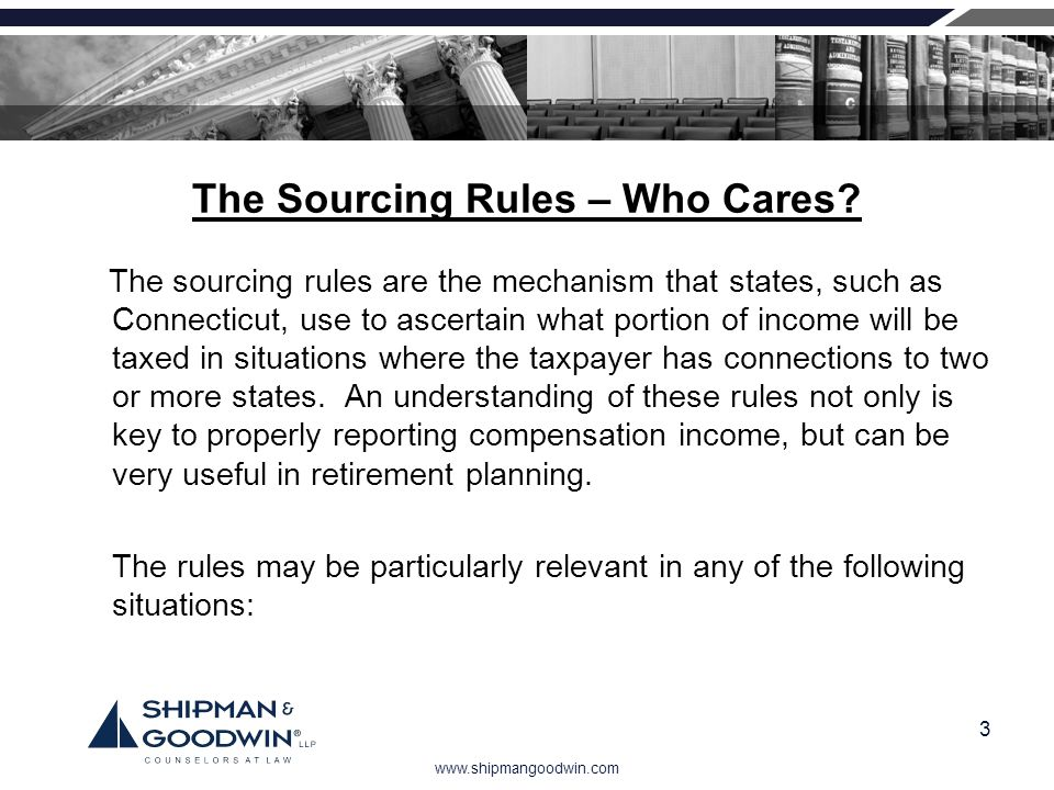 The Sourcing Rules – Who Cares