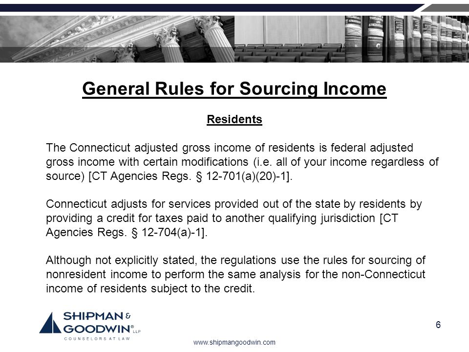 General Rules for Sourcing Income