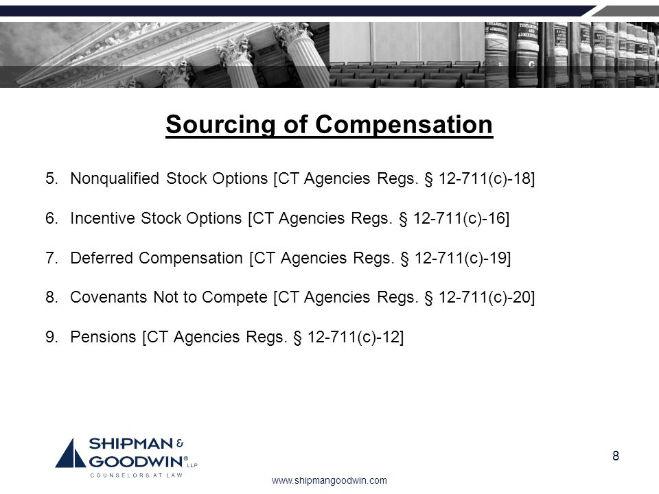 Sourcing of Compensation