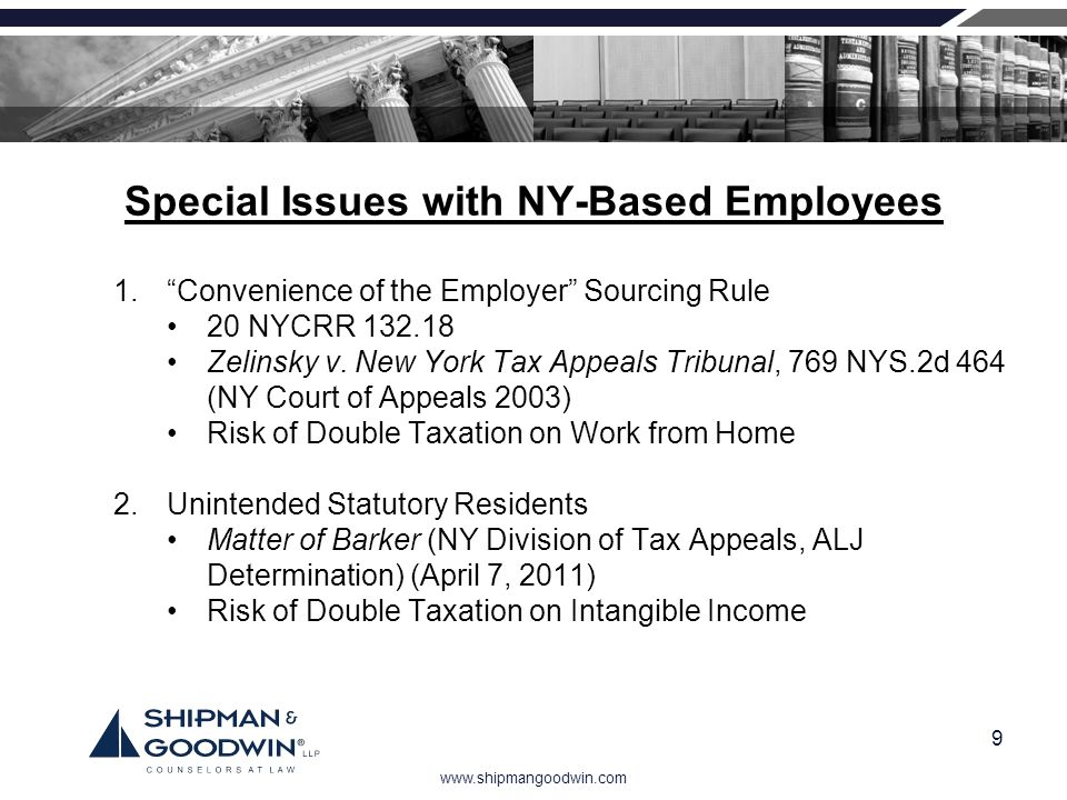 Special Issues with NY-Based Employees