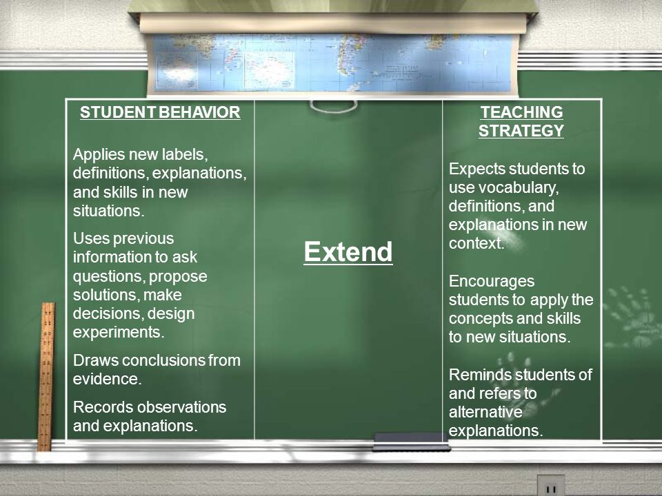 Extend STUDENT BEHAVIOR