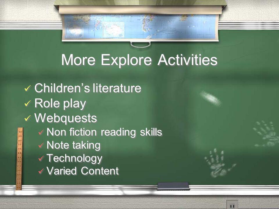 More Explore Activities