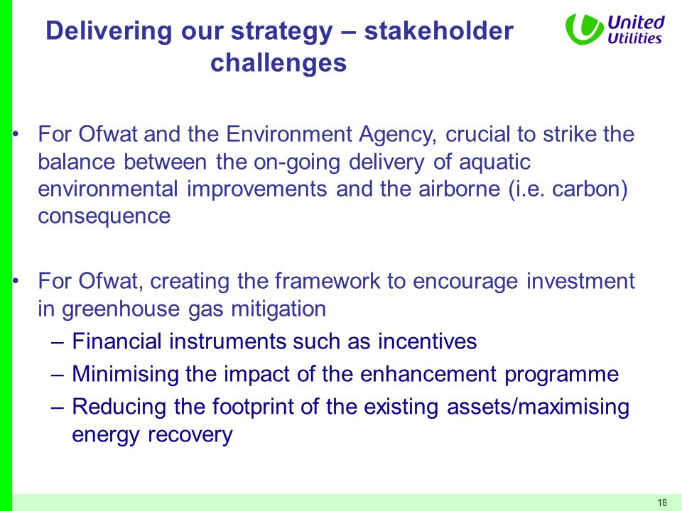 Delivering our strategy – stakeholder challenges