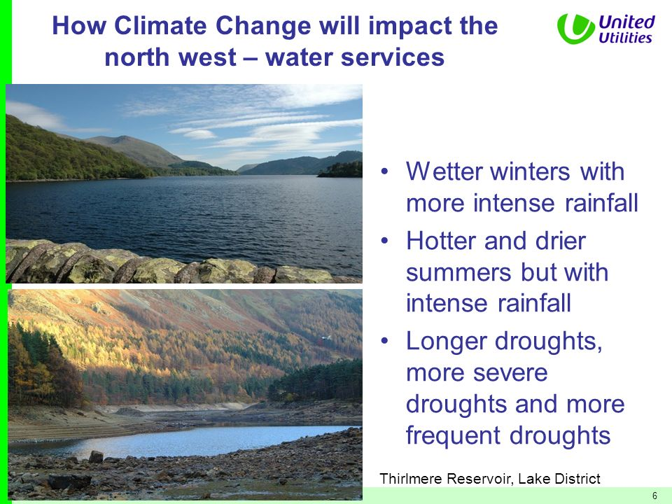 How Climate Change will impact the north west – water services