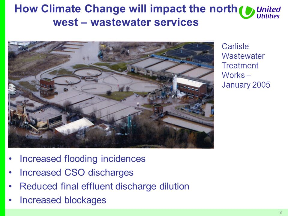 How Climate Change will impact the north west – wastewater services