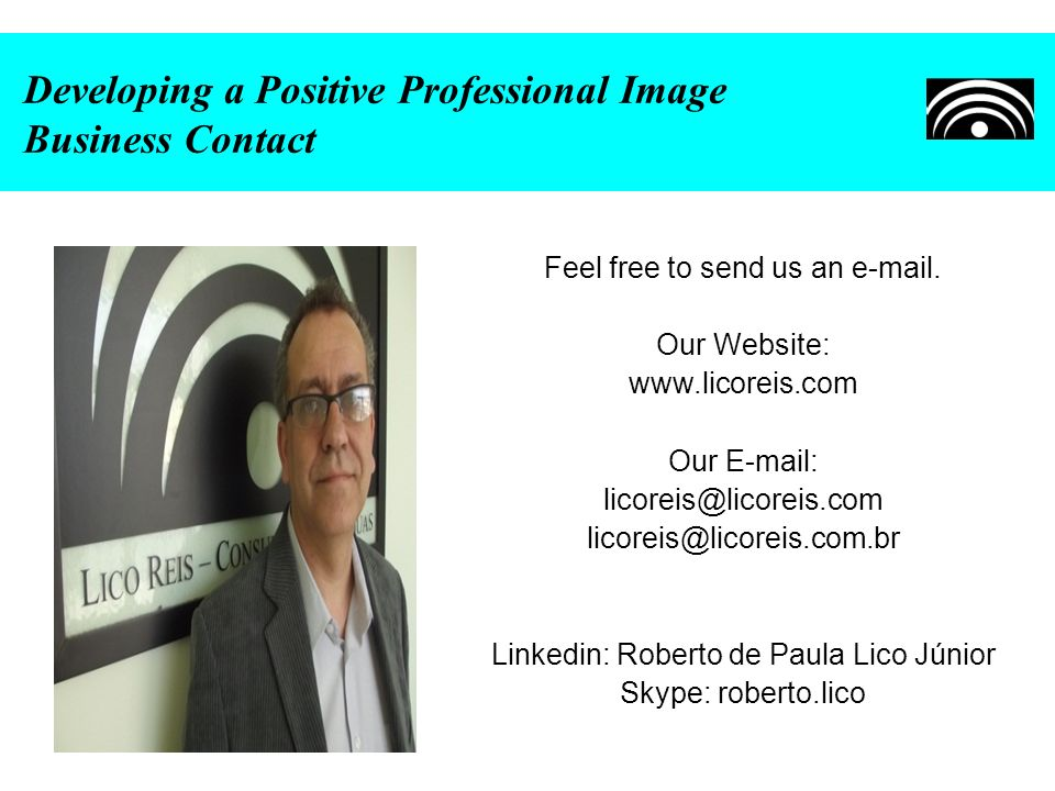 Developing a Positive Professional Image Business Contact