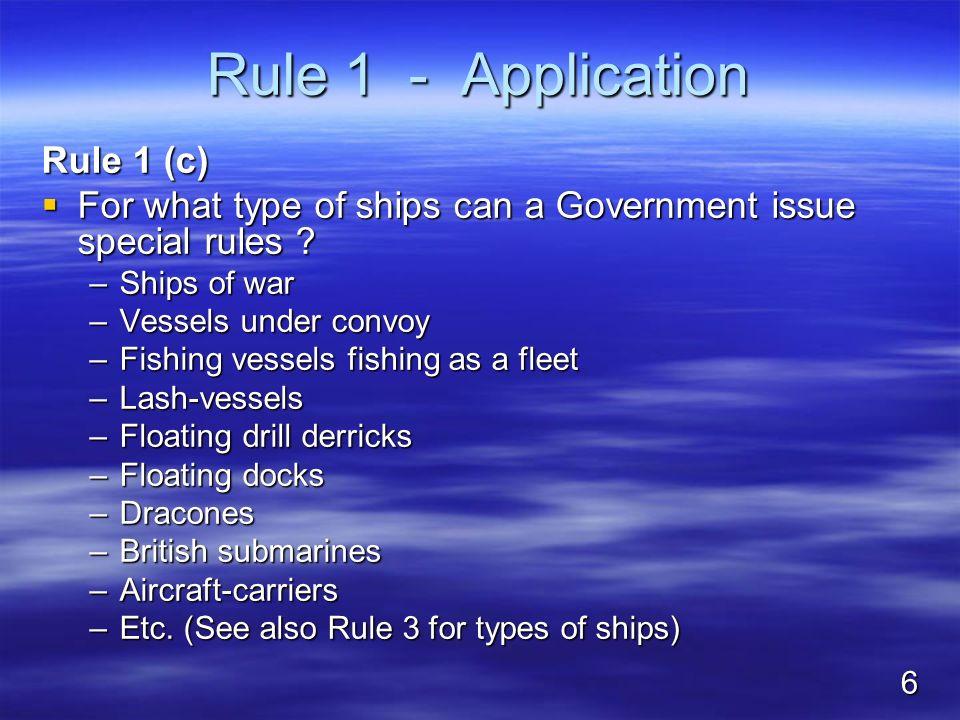 Rule 1 - Application Rule 1 (c)