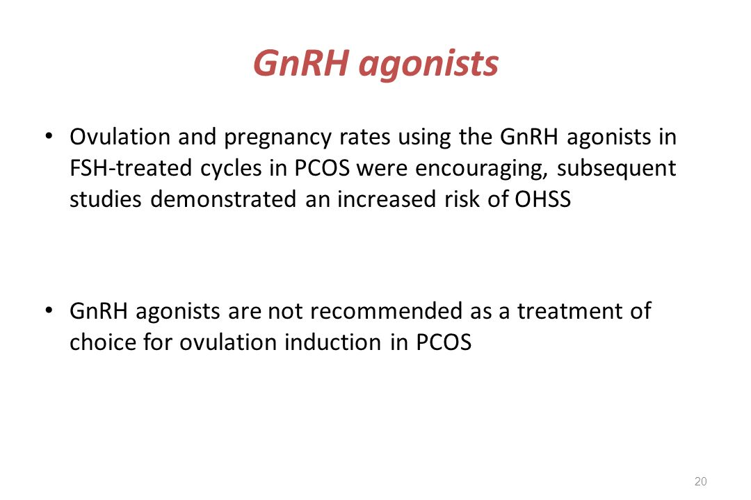 GnRH agonists