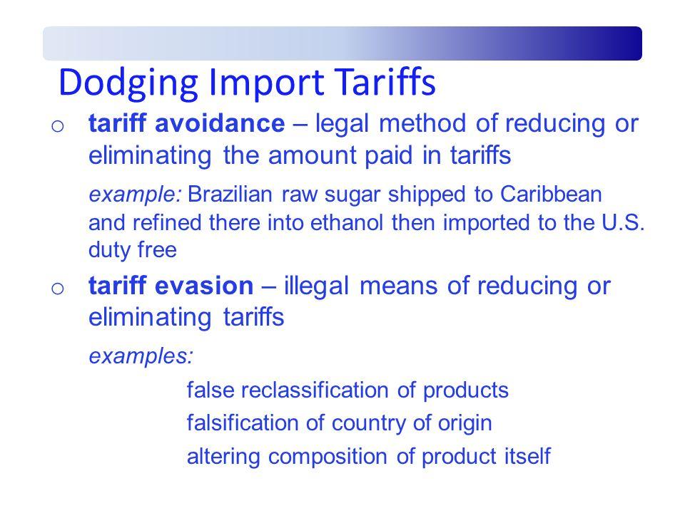 Dodging Import Tariffs