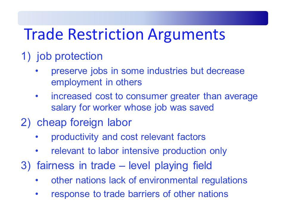 Trade Restriction Arguments