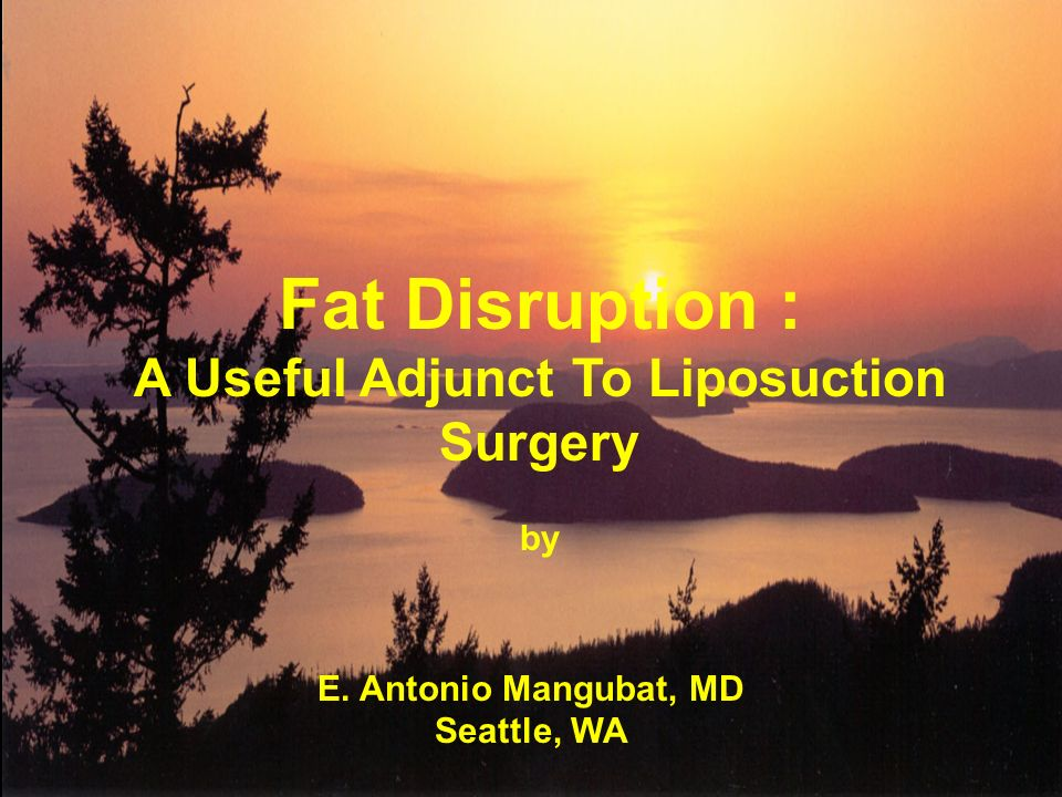 Fat Disruption : A Useful Adjunct To Liposuction Surgery by