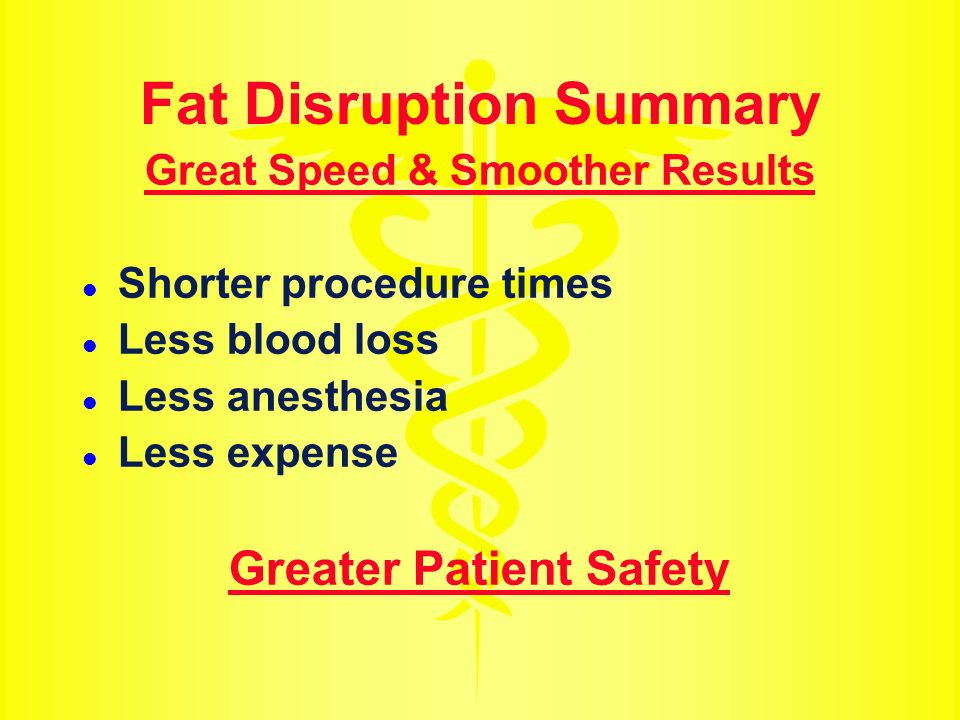 Fat Disruption Summary