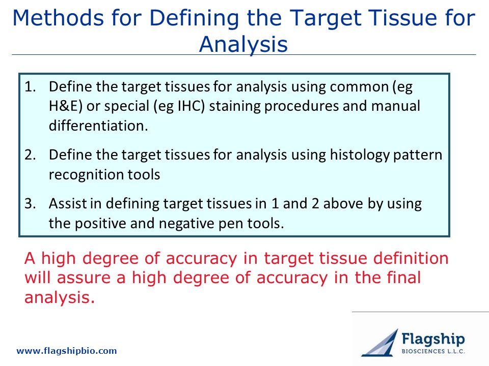Methods for Defining the Target Tissue for Analysis