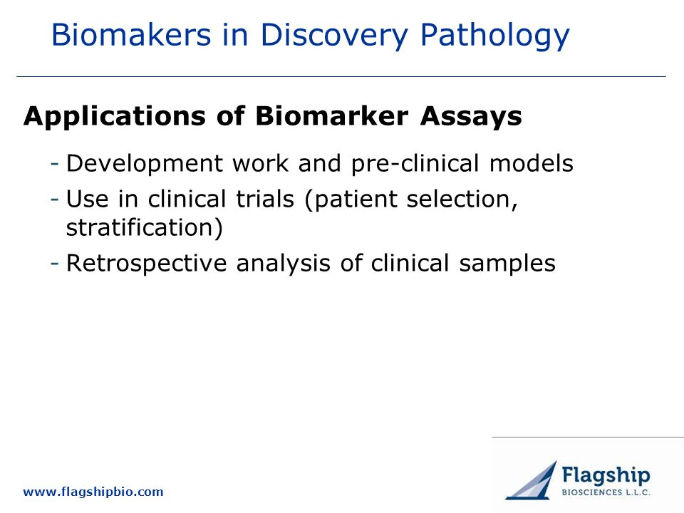 Biomakers in Discovery Pathology