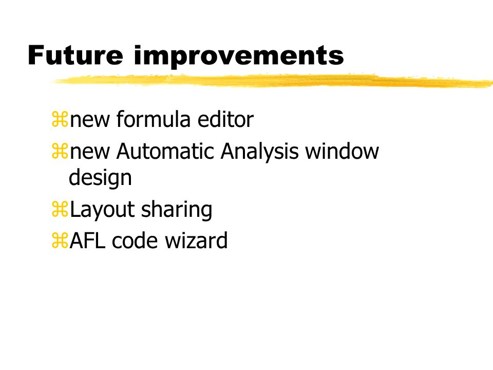 Future improvements new formula editor