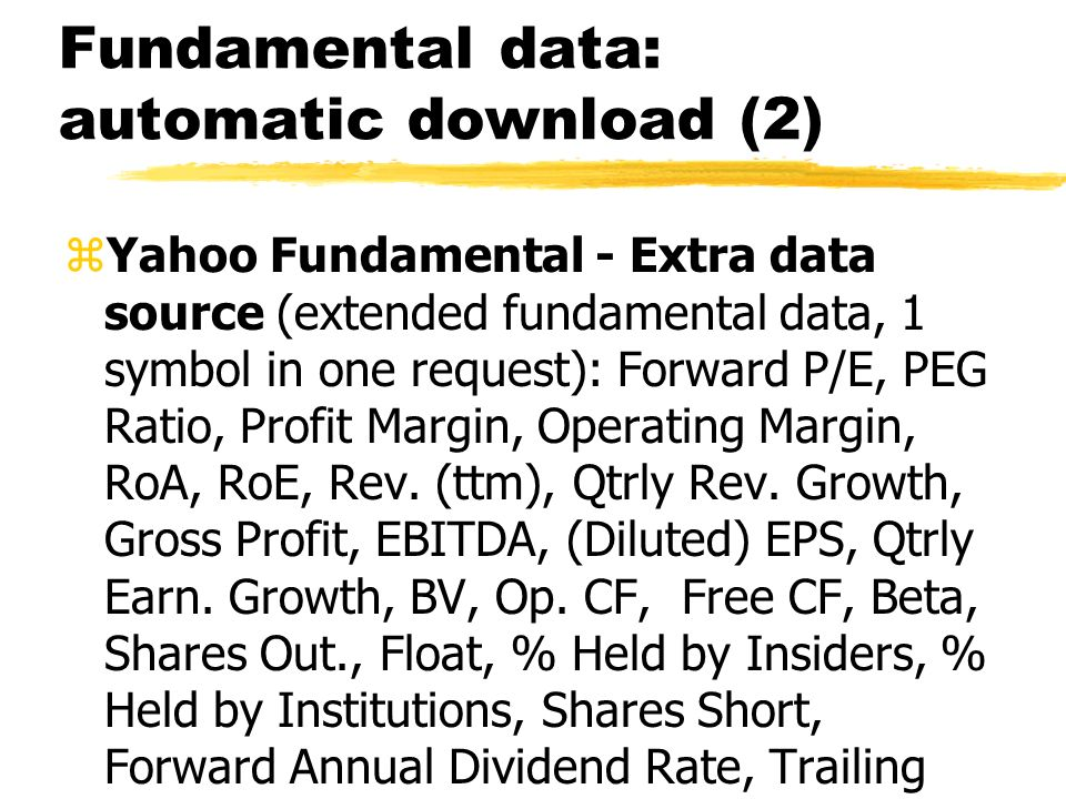Fundamental data: automatic download (2)