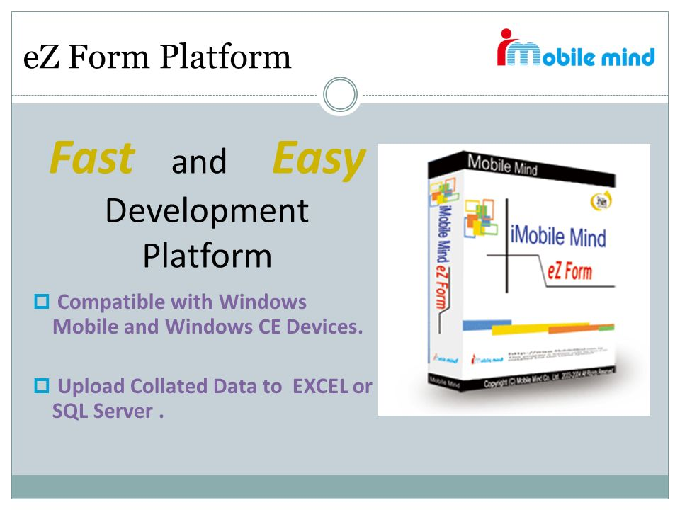Fast and Easy Development Platform eZ Form Platform