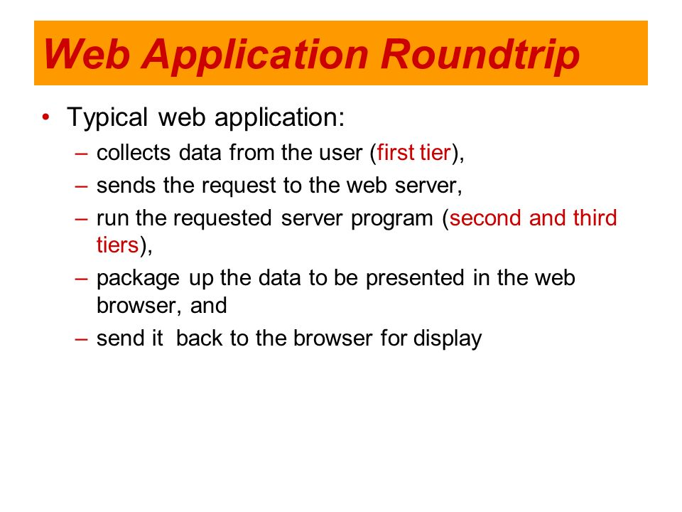 Web Application Roundtrip