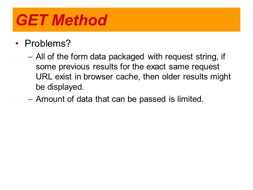 GET Method Problems
