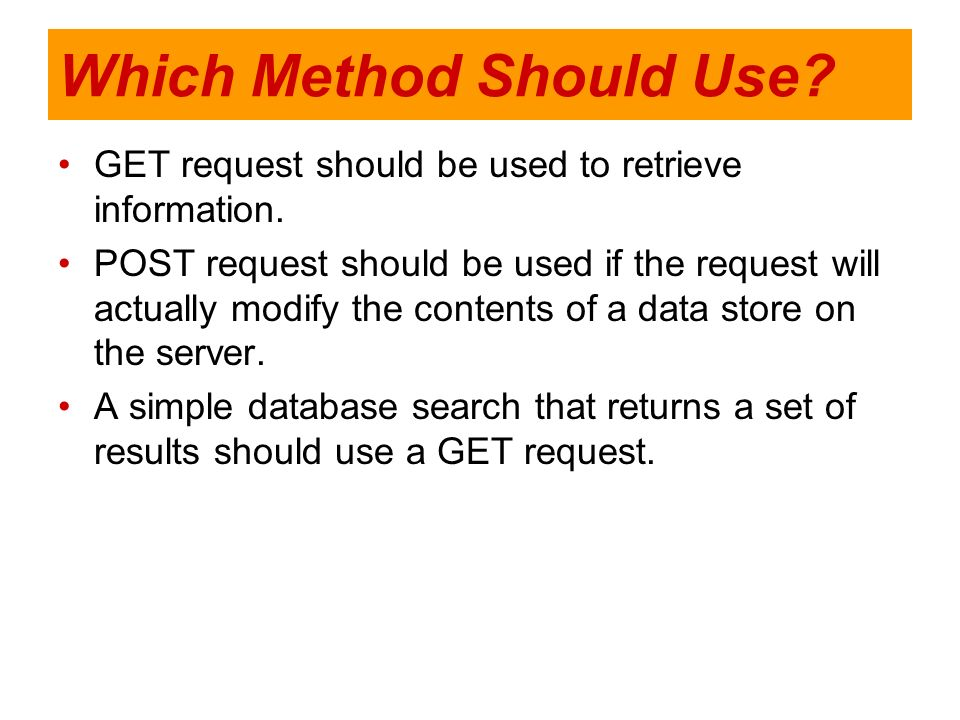 Which Method Should Use