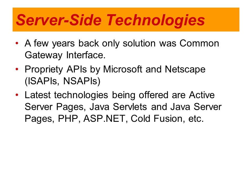 Server-Side Technologies