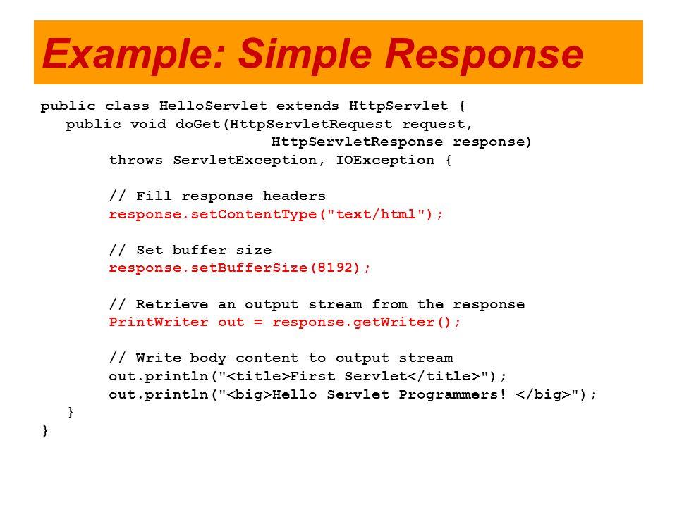 Example: Simple Response