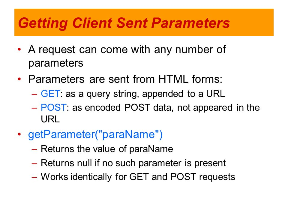Getting Client Sent Parameters