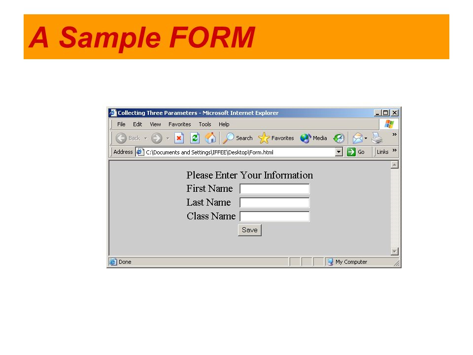 A Sample FORM