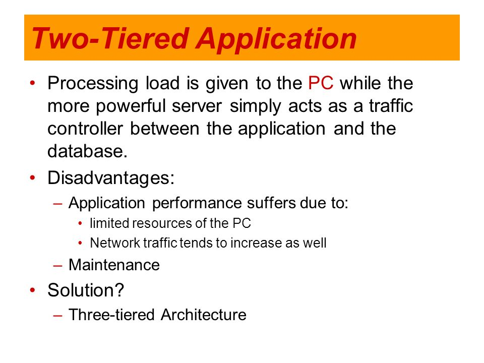 Two-Tiered Application