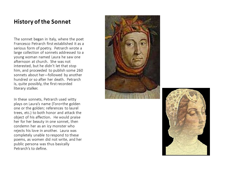 History of the Sonnet
