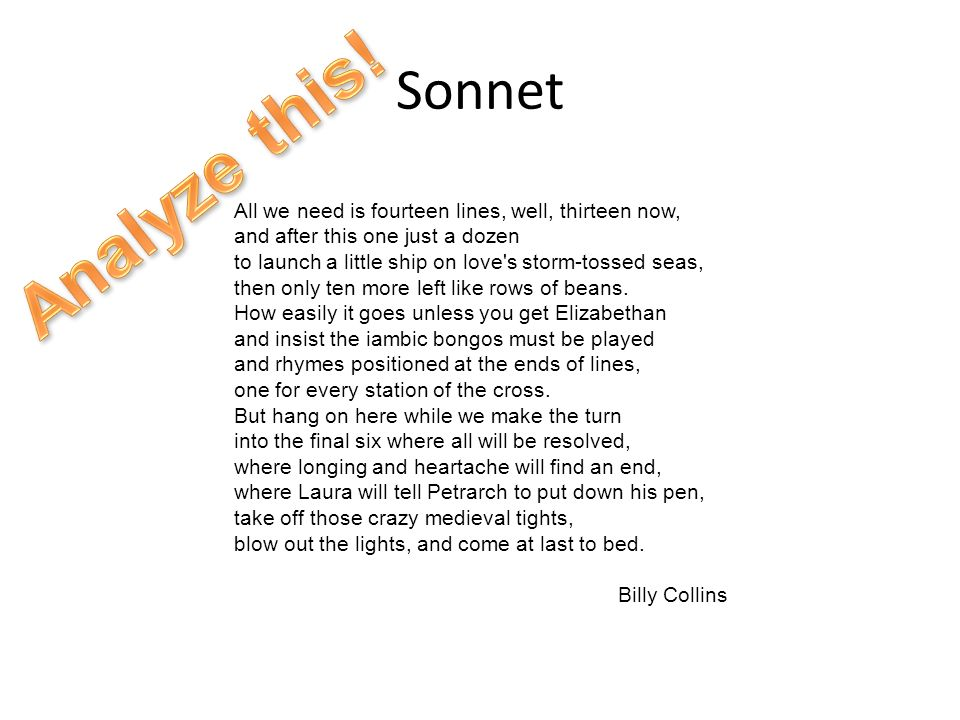 Sonnet Analyze this!
