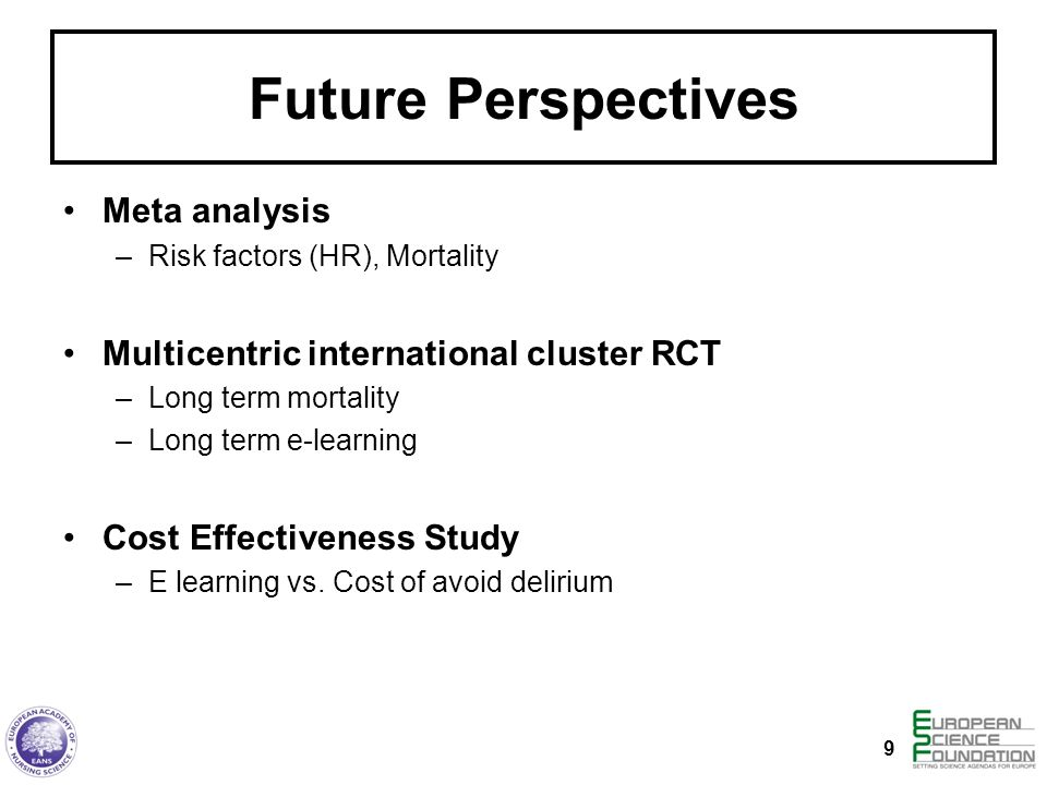 Future Perspectives Meta analysis