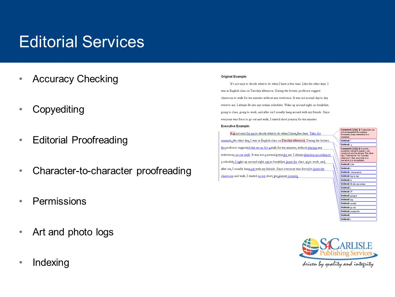 Editorial Services Accuracy Checking Copyediting
