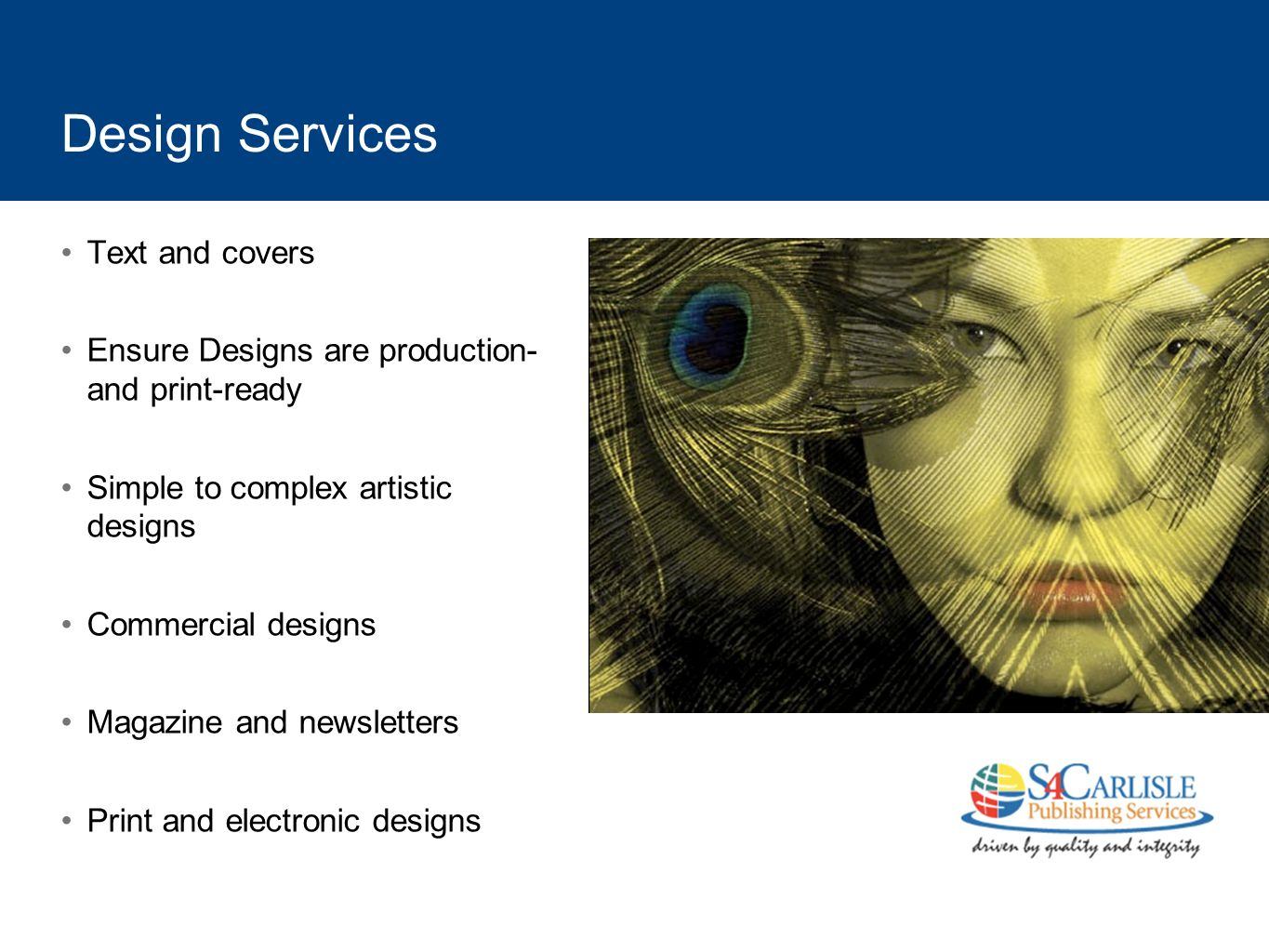 Design Services Text and covers