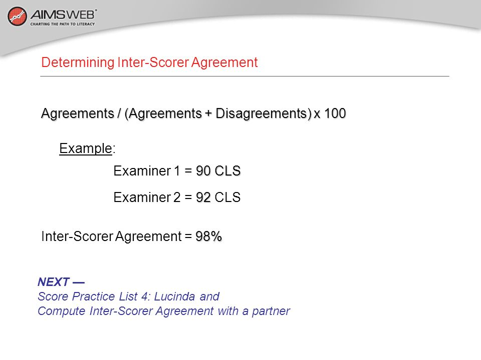 Determining Inter-Scorer Agreement