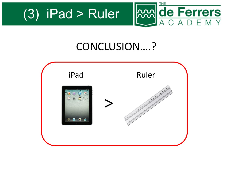 (3) iPad > Ruler CONCLUSION…. iPad Ruler >