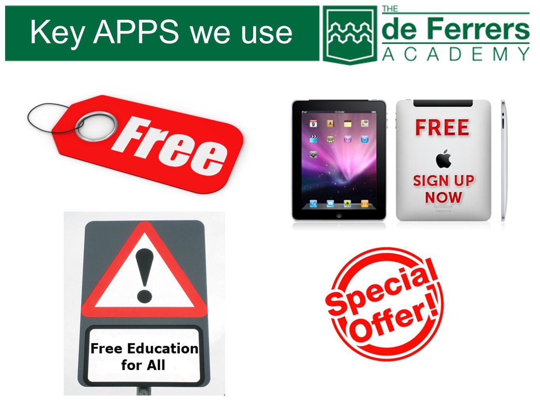 Key APPS we use