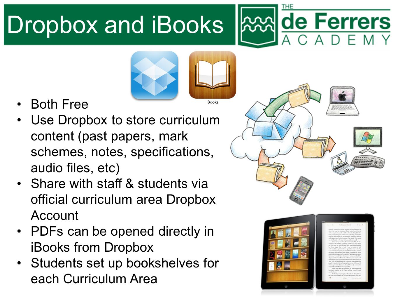 Dropbox and iBooks Both Free