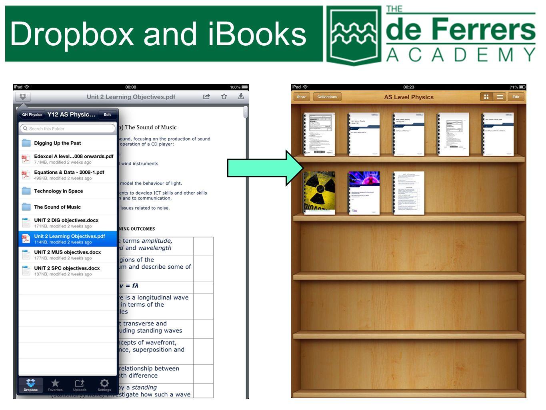 Dropbox and iBooks