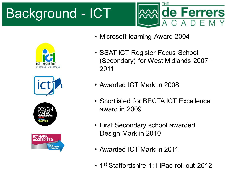 Background - ICT Microsoft learning Award 2004