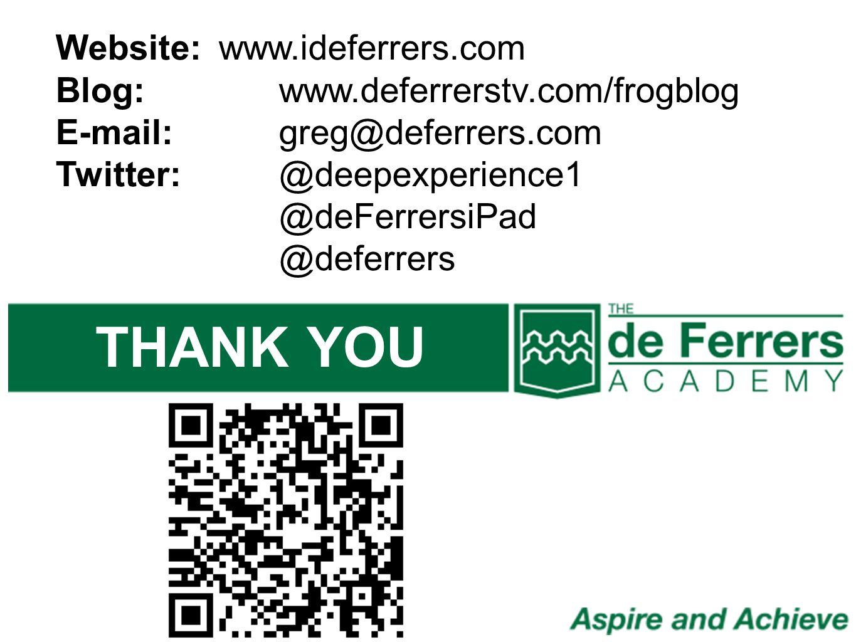THANK YOU Website: www.ideferrers.com