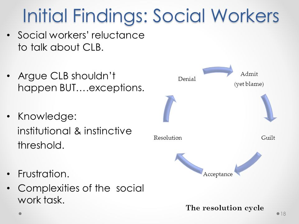 Initial Findings: Social Workers