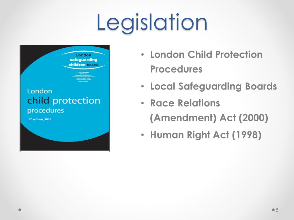 Legislation London Child Protection Procedures