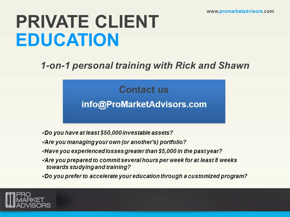 1-on-1 personal training with Rick and Shawn